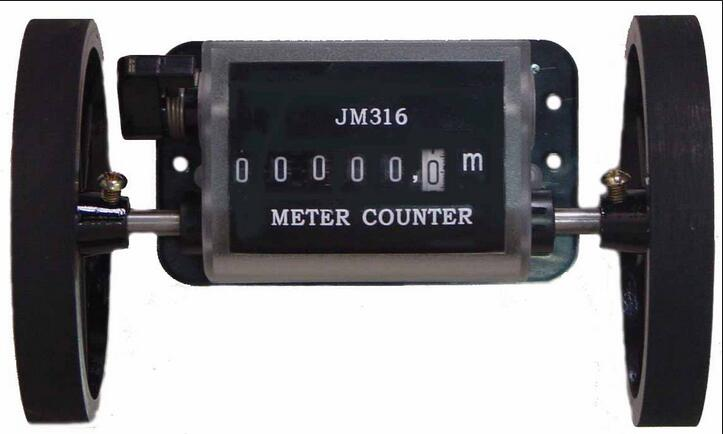 Meter Counter Rolling Wheel Mechanical Length Counter JM-316