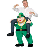 YIWU factory manufacture Carry Me Costume Ride On Leprechaun Costume