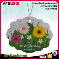 Wholesale hanging designer fragrance car air freshener
