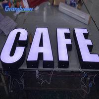 Outdoor waterproof store signage led channel letter restaurant sign
