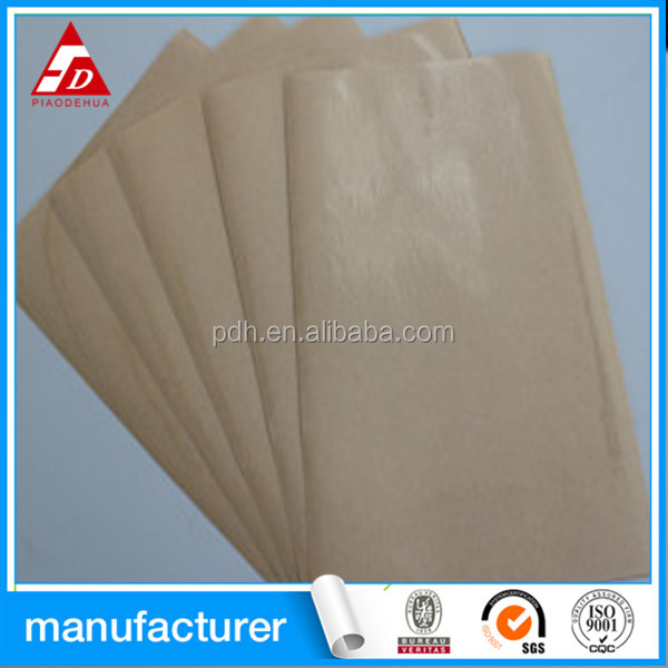 self adhesive transparent pet 23mircron with kraft release paper