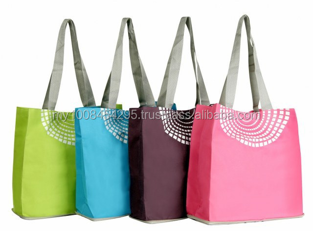 15400 Colourful Foldable Tote Bag ( promotional gift, corporate gift, premium gift, souvenir )
