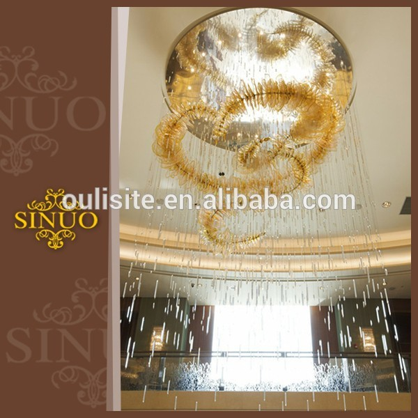Full of art and fashion blown drop ceiling light fixture