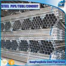 2016 pre galvanized round carbon steel pipe price per ton