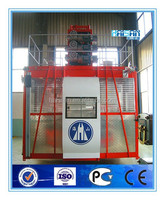 SC200-2ton Rack-and-pinion Threee-drive One-cage Construction Lift with 0-40m/min speed