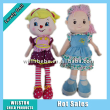 Top Quality Baby Toys Custom Plush Toys Girl Doll Nice Dressing