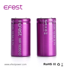 lithium battery 18350 efest 18350 10.5a imr 700mah rechargeable battery for mods flashlight