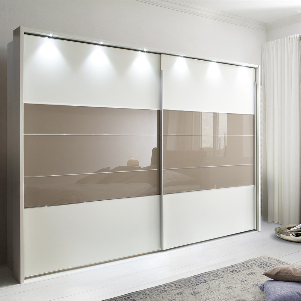 Australian project 15 years Eco-friendly professional chinese modern white lacquer sliding door wardrobes
