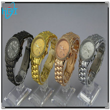 Alloy case/strap chinese/japan movement unisex wholesale geneva watch china