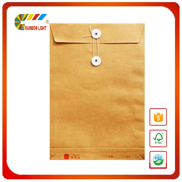 Bulk wholesale kraft paper bag/file cover/a3 a4 size portfolio bag printing