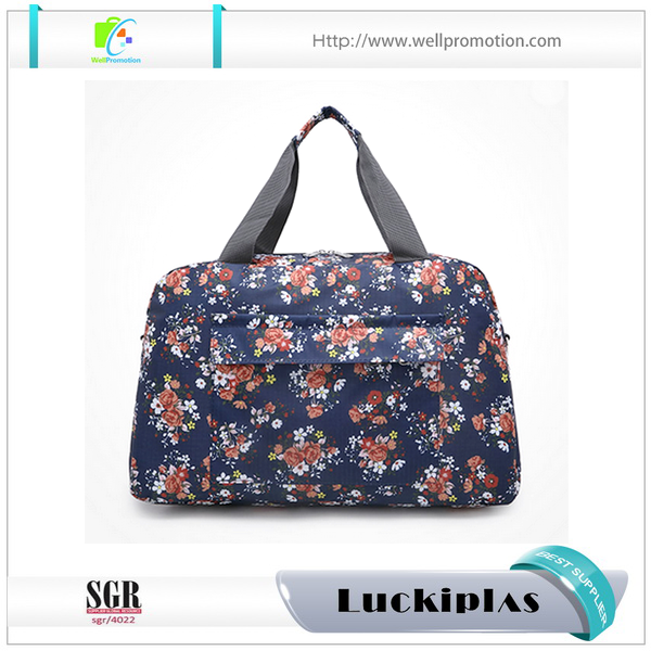 Small floral printing girls Duffle bag ideal for travel and daily use