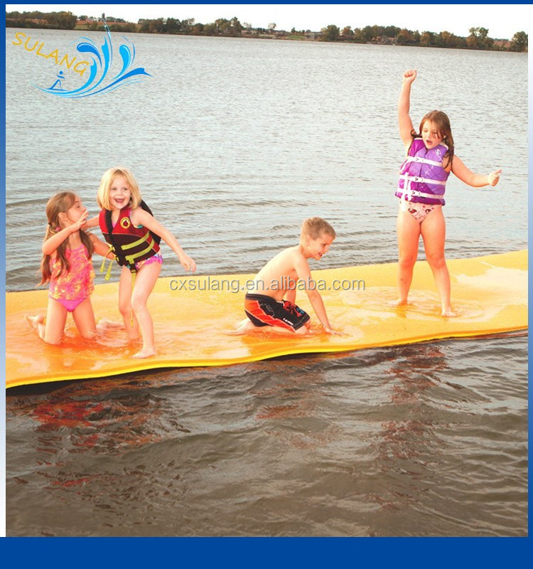 Factory Directly Giant XPE Foam Swimming Pool Floating Water Mats Water Raft Pad/Dock Kids Lake Water Floats Bed