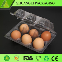 6 Cells clear transparent plastic chicken egg tray