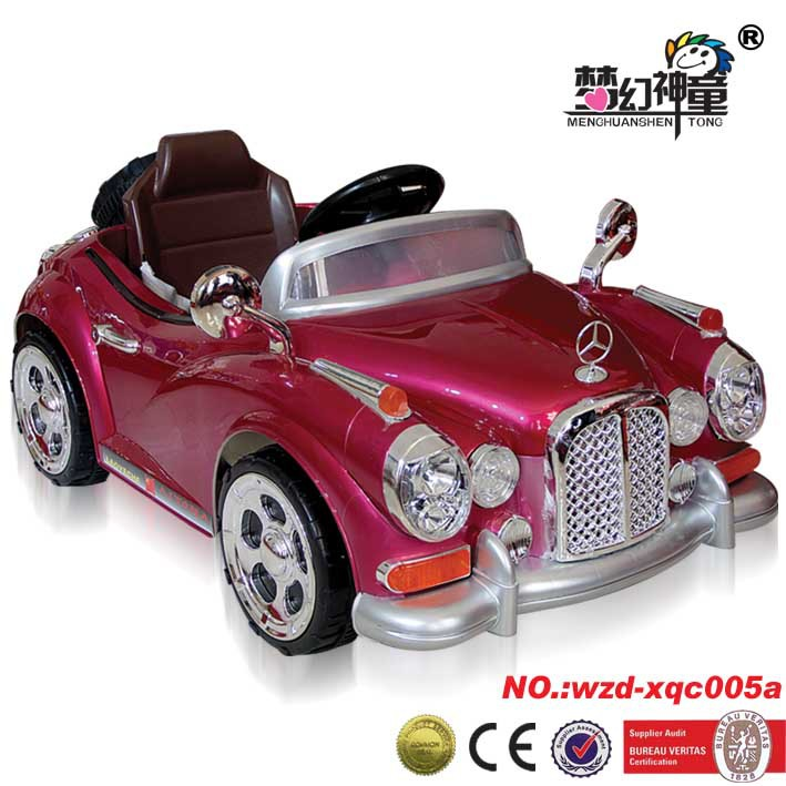 Brightly colored Children love Inexpensive ride on car children electric ride on car