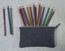 felt pencil bag felt pouch for school office with various color zipper factory price