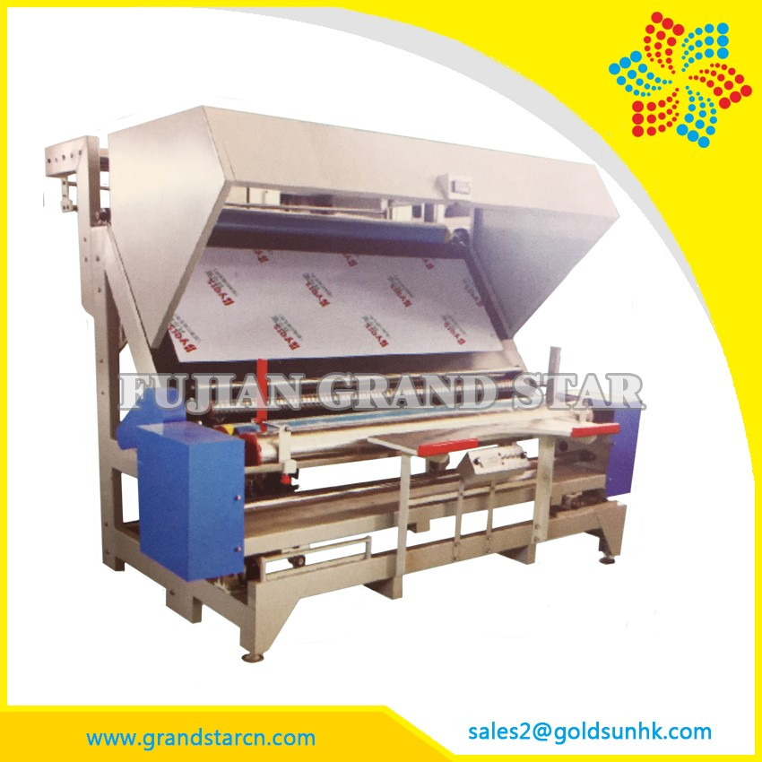 Textiles Fabric Inspection Winding Machine, roll up textile measuring machine from china factory