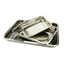 Rectangular shape stainless steel food serving tray / fruit plate