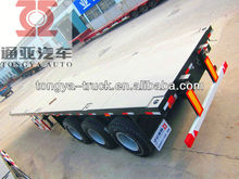 used 45FT 3 axle semi flatbed trailers for sale