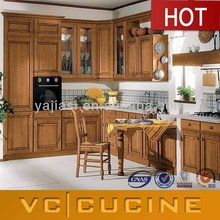 American unfinished cherry solid wood antique kitchen cabinets