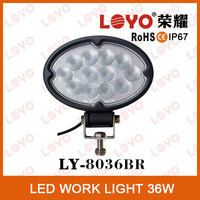 6.5'' high intensity 36w led work lamp ,36w off road spot driving light for truck Jeep , led spot light for car 4x4 4WD