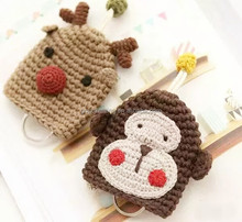 fashion design kit creative gift diy keychain crochet monkey crochet reindeer keyrings crochet diy kit diy craft kit