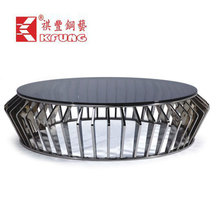 Guangdong new brand design surface acrylic trunk stainless steel coffee table