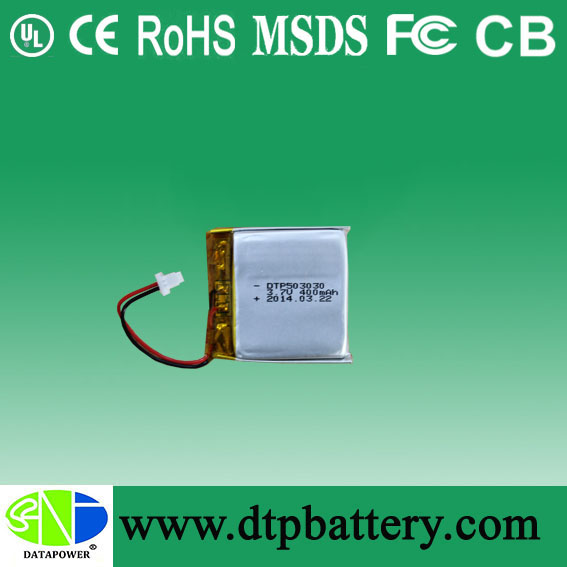 China manufacturer 3.7v lithium polymer battery 453030 360mah