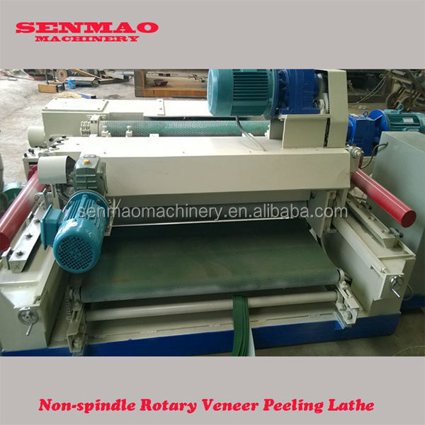 High quality spindleless plywood veneer rotary cutting machine
