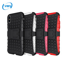 2017 New design protector case for iphone X case cover, tyre pattern pc+tpu mobile phone case for iphone X