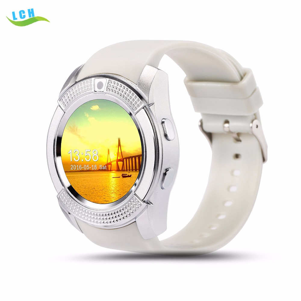 New products bluetooth V8 smart watch support sim card smartwatch mobile watch phone for android OS