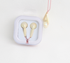colorful elegant diamond heart shaped in-ear earphone with microphone for girls for kids for mobile phone