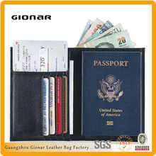 Mens RFID Blocking Genuine Carbon Fiber passport wallet with Bifold Money Slots