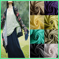 Thin Tencel Slub Cotton Crepe Woven Fabric for Garment