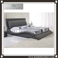new designs hot sales bedroom furniture beauty double bed luxury furniture king size fabric bed modern leather beds