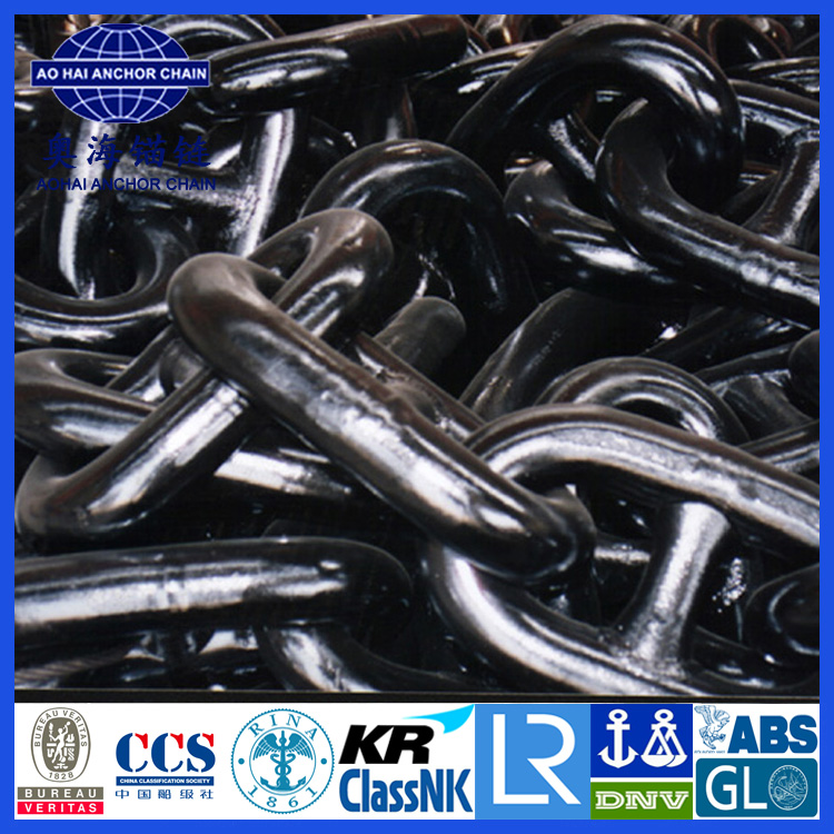 Ship Black Carbon Steel Stud Link Anchor Chain for Sale