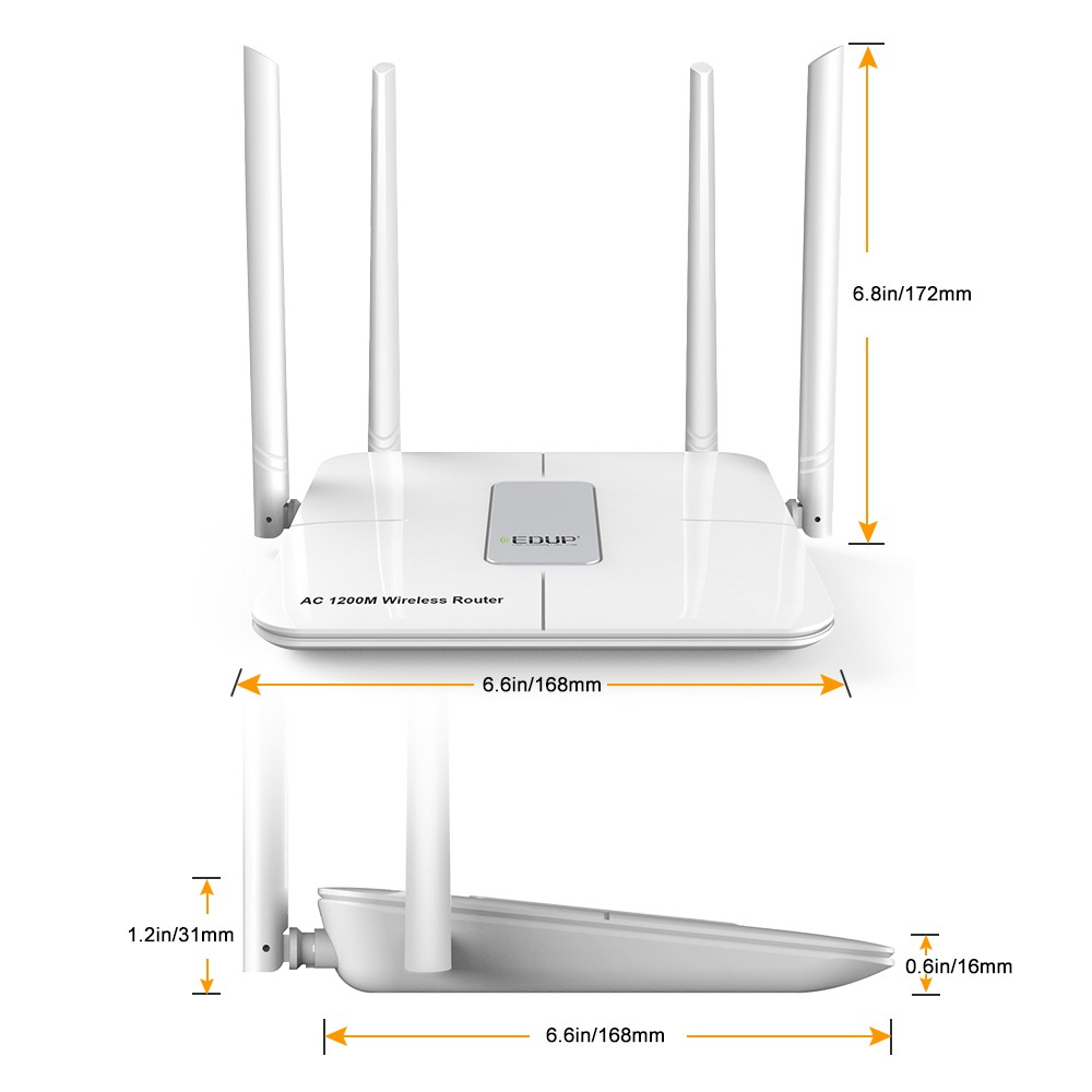 Manufacturer 1200Mbps with 2km wifi range wireless router edup bit