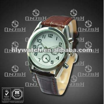 New Sports Watch for Men with Leather Strap HK-175