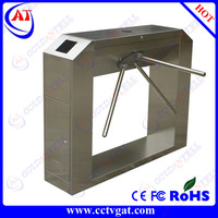 Waist Height Stainless Security RS485/TCP IP Automatic Fare Collection bi-directional RFID card Electronic Pedestrian turnstile