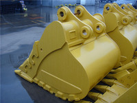 customized excavator spares 20ton hard rock bucket with tiger teeth