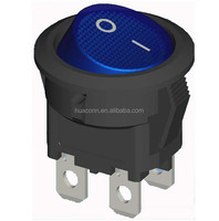 kcd3 switch rocker round blue light