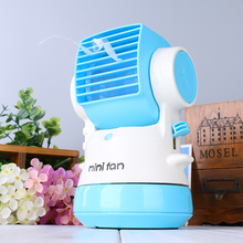 Humidifier cooling air rechargeable water mist fan spray