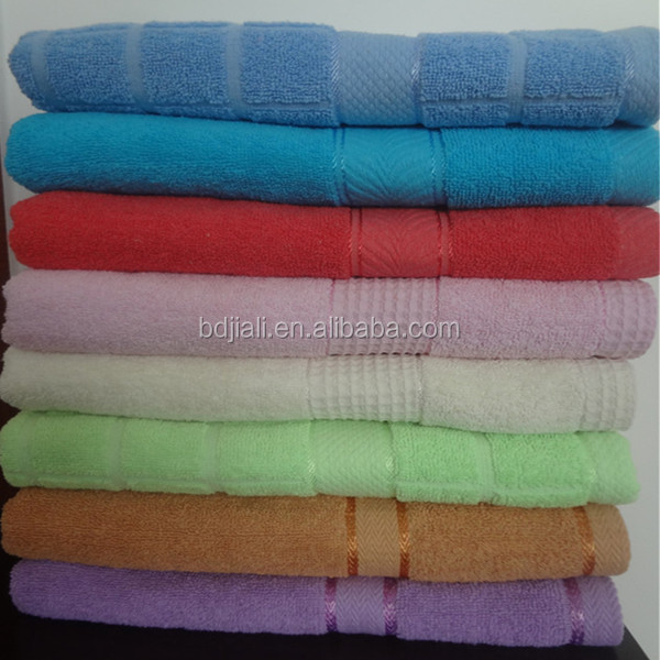 100% cotton good quality stock towel folding