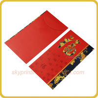 recycled fancy design custom red pocket envelop for gift card wholesale