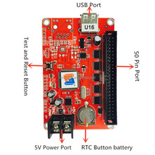 Hot P10 LED Controller Running Text with Software