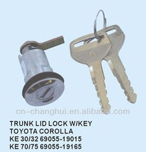 Trunk lid lock with key FOR TOYOTA COROLLA KE30 / 32 70 / 75