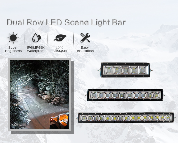 AURORA IP69K Scene Light 120 Degrees 40inch 4x4 led offroad light bar
