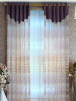 Beautiful sheer panel polyester window curtains