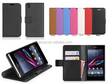 Stand Book Wallet Leather Case Cover Pouch for Sony Xperia Z2 L50w Case