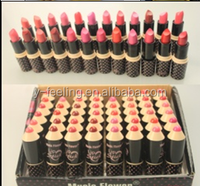 2016 Hot Wholesale Matte Lipstick 24 Rich Color and Natural Effect Smooth Ripstick