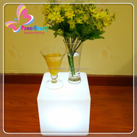 Indoor modern new style illuminated colors changing led cube table